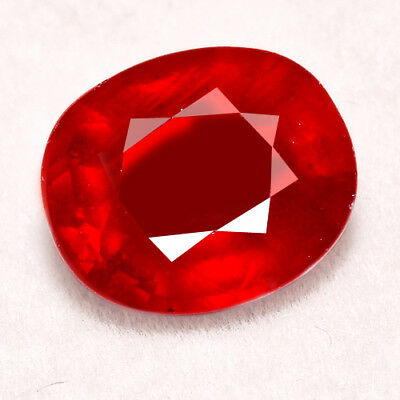 7.65CT Natural Mozambique Pigeon Blood Red Ruby Faceted Cut UQHB170