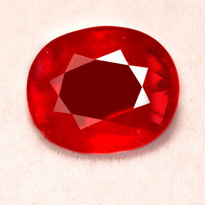 7.9CT Natural Mozambique Pigeon Blood Red Ruby Faceted Cut UQHB171