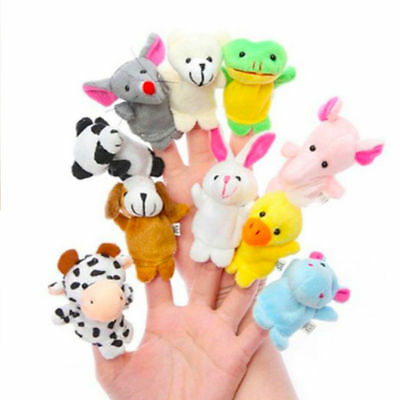 10 Pcs Baby Cartoon Finger Puppets Cloth Doll Educational Hand Animal Toy