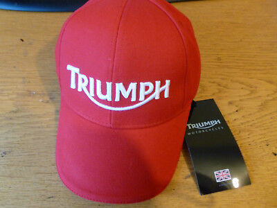 Genuine Triumph Motorcycle Baseball Cap Hat, RED ...New