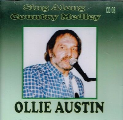 """OLLIE AUSTIN Brand New CD """"SING ALONG COUNTRY MEDLEY"""" 43 Songs -  Country Music"""