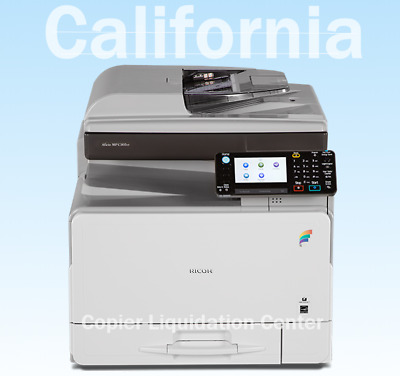 Ricoh MPC 305 spf Color Copier Scanner Fax Printer. Speed 31 ppm. LOW METER