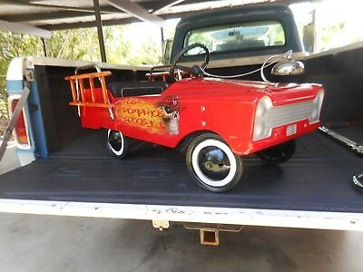 1960s/70s AMF Fire Chief Pedal Car vintage collectible pedal car