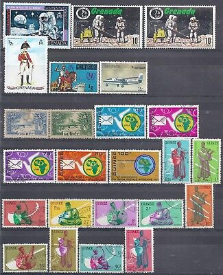 Selection of Used Stamps from Grenada-French Guinee-African Guinee-Hong Kong