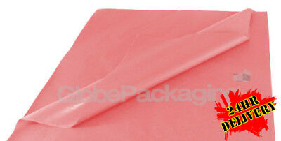 500 SHEETS OF PASTEL PINK ACID FREE TISSUE PAPER 500x750mm HIGH QUALITY *24HRS*