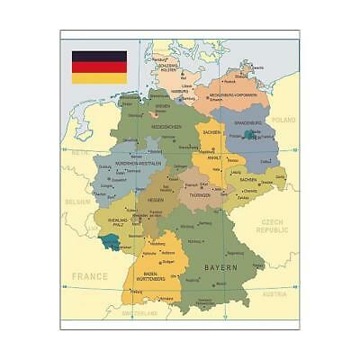 "15133646 10""x8"" (25x20cm) Print of Germany Map - illustration"