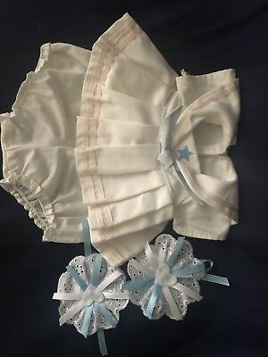 NO DOLL! AUTHENTIC Dress, Knickers, Barrettes, 4 Items!