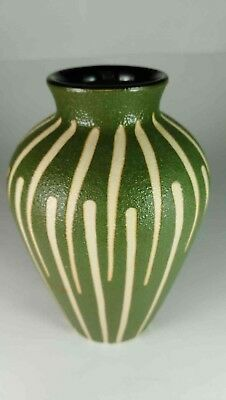 Japanese Green & White Vase