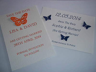 Personalised Save The Date Cards - Pack of 10 with envelopes