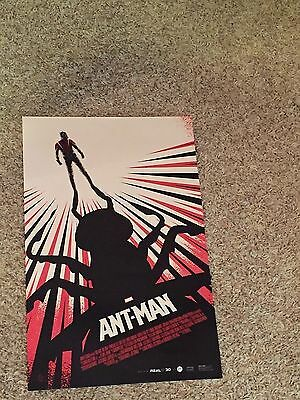 ANT-MAN - Movie Poster - Flyer  11 X 17 - PAUL RUDD - MICHAEL DOUGLAS - AMC IMAX