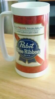 OLD PABST BLUE RIBBON Insulated Plastic Beer Mug