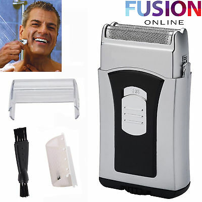 Mens Wet & Dry Travel Mini Shaver Micro Compact Small Battery Operated Razor