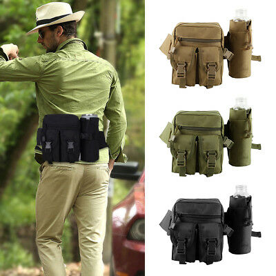 Tactical Waist Pack Water Bottle Belt Bag Camping Outdoor Hiking Military Pouch