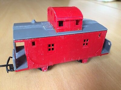 VERY RARE TRIANG R449 TRANSCONTNENTAL OLD TIME CABOOSE RED/GREY OO Gauge