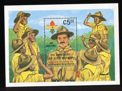Ghana QEII 1982 Boy Scouts 75th MS995 MNH