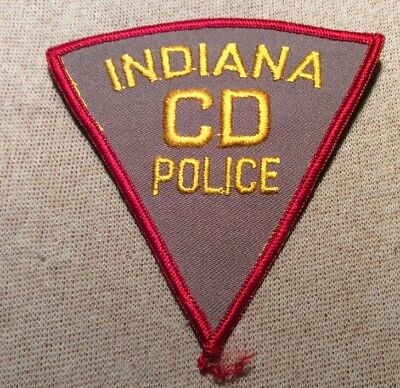 IN Vintage Indiana Civil Defense Police Patch (4In)