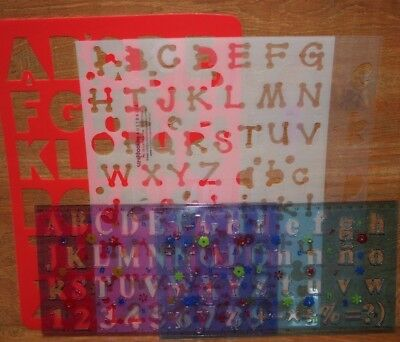 Mixed Alphabet stencils templates **FREE POST**