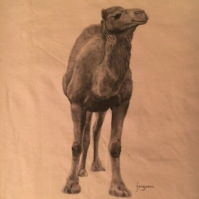 fun CAMEL t shirt--TWO SIDED w/ FRONT & REAR views--ISRAEL made--nwot NEW--(M)