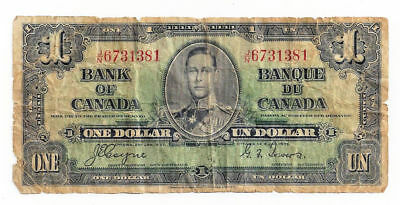 1937 Bank of Canada - One Dollar Note