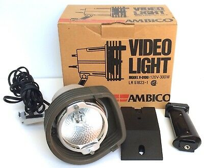 Vintage Ambico Video Light V-0100 Tested Working In Original Box