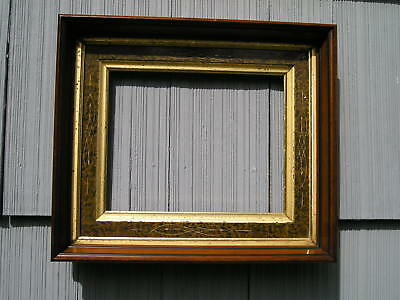 Antique Finely Carved Eastlake Victorian Picture Frame Double Gilt Liner 8 x 10