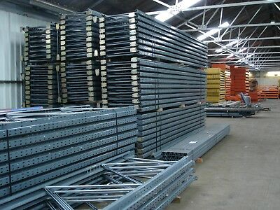 Used Dexion Industrial Racking 30 bays 3m H x 900mm D 2667mm W x 2 Levels x 2 T