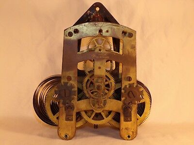 Seth Thomas Large Wall Regulator Clock Movement with Bracket, Parts / Repairs