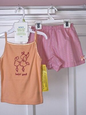 NEW Toddler Girl Pajamas Size 4T Carter's Shorts & Sleeveless Top 2 pieces NWT!