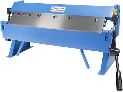 """Erie Tools 24"""" Sheet Metal Pan and Box Brake with Adjustable Removeable Fingers"""