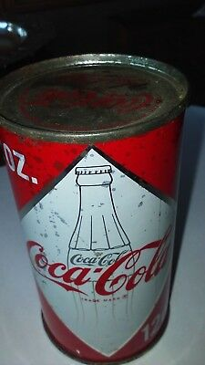 1960 coca cola coke can vintage diamond flat top soda Rare full unopened Oregon