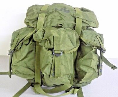 ALICE LC-1 Combat Field Backpack Ruck Sack OD Green US Army Military Pack only