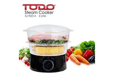 TODO 5L Electric Food Steamer 2 Tray