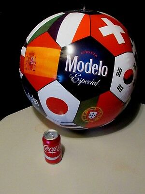 NEW Modelo Cerveza Especial Soccer Beer Beach Ball Inflatable World cup Blow up