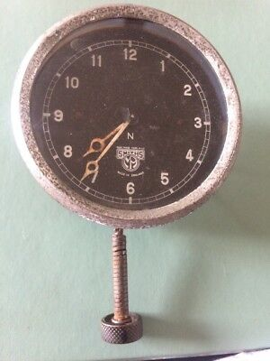 Vintage Smiths black face car clock for parts or repair