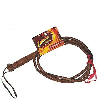 Indiana Jones - 6' Brown Leather Whip - Officially Licensed Costume Accessory