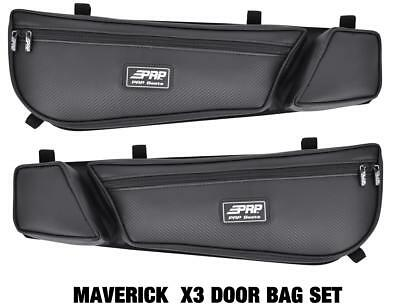 Can Am Maverick X3 PRP door bag bags BLK Set of 2 #E60-210