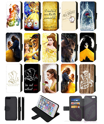 BEAUTY and the BEAST Disney Wallet Flip Phone Case Cover Galaxy S5 S6 S7 S8 Edge