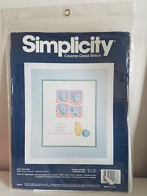 Simplicity Just Hatched Birth Record Cross Stitch Kit