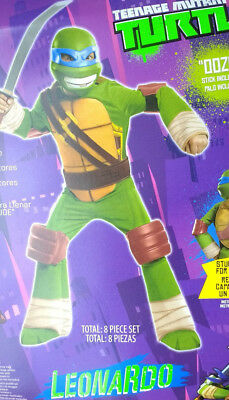 Teenage Mutant Ninja Turtle Blue Leonardo Costume Boys M Size 8 New Halloween