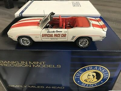 FRANKLIN MINT 1969 CAMARO Indy 500 Pace Car LIMITED EDITION B11E233 1444/5000