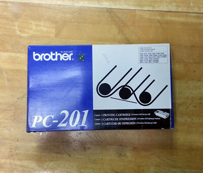 GENUINE Brother PC-201 Black Fax Printing Cartridge NEW IN BOX MFC-1025 MFC-1770