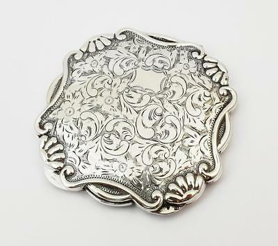 Antique CZECHOSLOVAKIAN SILVER POWDER COMPACT c1945