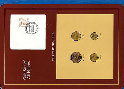Coin Sets of All Nations Chile 1981-1984 UNC 1,5 Pesos 1984 50 Pesos 1982
