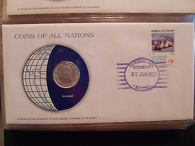 Coins of All Nations Ecuador 1 Sucre 1980 UNC