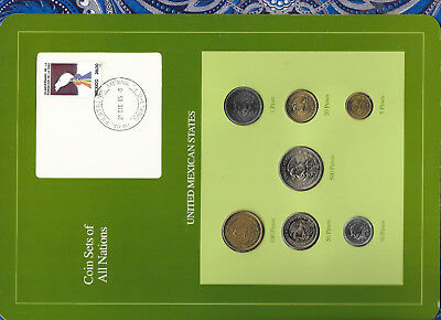 Coin Sets of All Nations Mexico 1985-1988 UNC 1,5,10,50,100 Pesos 1987