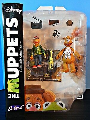 Muppet Figures Series 1 FOZZIE & SCOOTER WITH DEAD CHICKEN by Diamond Select MOC