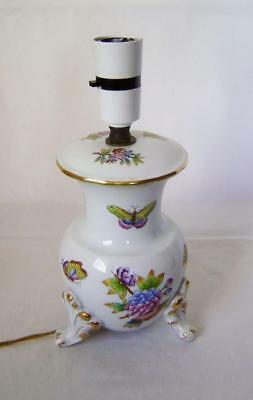 Vintage Rococo Porcelain Lamp Base on three scroll feet : Herend Hungary C.1960s