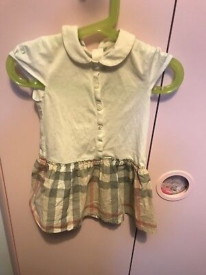 Baby Girls Burberry White Dress 12months Babies Dress 12m/74cm