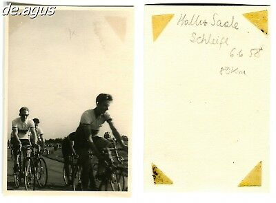 Vintage Photo from 1958 Halle-Saale-Schleife,Bicycle racing