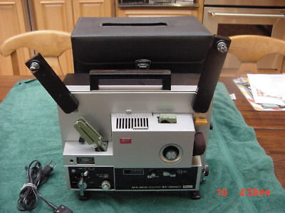 ELMO ST1200 8mm SOUND PROJECTOR WORKING ORDER W/CASE  microphone accessories